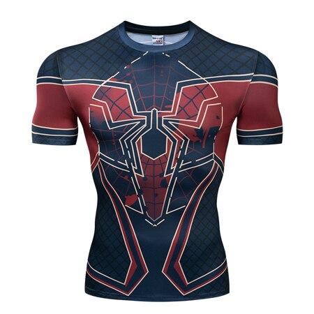 Мстители эндгейм футболка Квантовая царство компрессионная с коротким рукавом для мужчин тренажерный зал Спорт Фитнес окрашенные футболки спортивная одежда для мужчин - Цвет: DX-046
