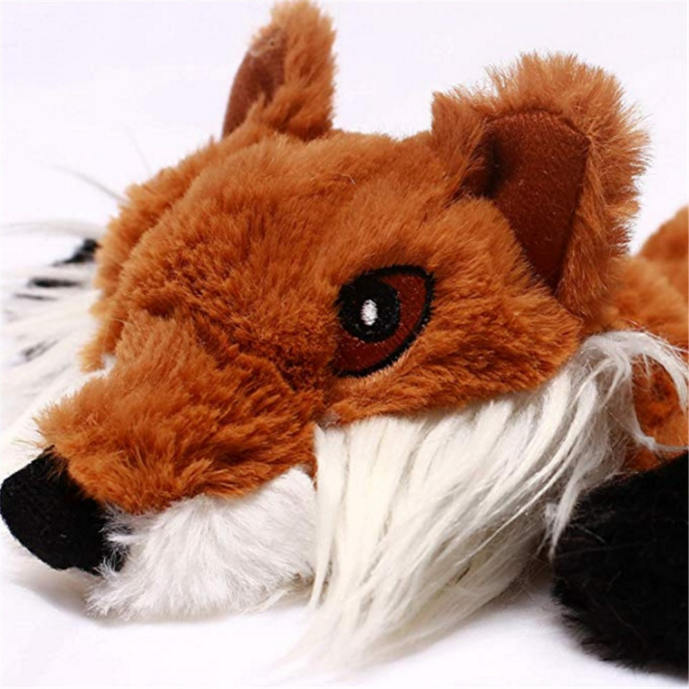 Новинка 2019, милые плюшевые игрушки, писк питомца, волк, кролик, животное, плюшевая игрушка, собака, жевательная, скрипучая, свистящая, животные белки, игрушки для собак-1