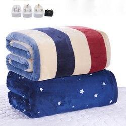 110-220 v mais grosso único colchão elétrico termostato cobertor elétrico cobertor de aquecimento elétrico de segurança quente cobertor elétrico