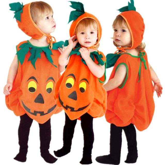 63485b424db28 US $19.36 30% OFF|Free Shipping Boys Girls Kids Pumpkin Costumes Halloween  Christmas Carnival Fancy Dress for Children Masquerade Cosplay Clothes on  ...