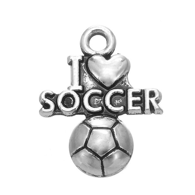 Minimal 100pcs tibetan silver color word i love soccer charms minimal 100pcs tibetan silver color word i love soccer charms pendants for jewelry making mozeypictures Image collections