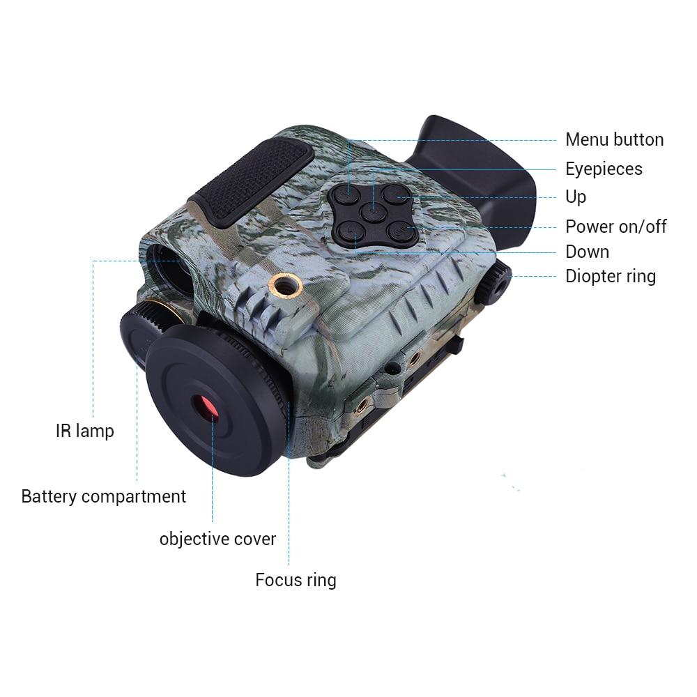 200 m função da câmera infravermelha para a caça