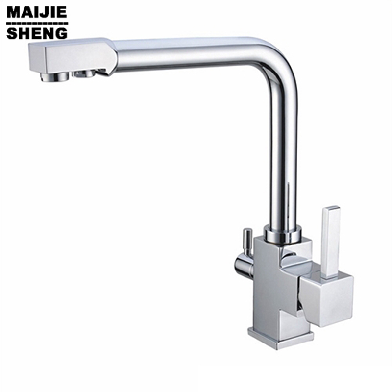 Kitchen Tap Ro Drinking Warter, Hot/cold Water Mixer 3 Way Faucet 2017 Ceramic Torneira Limited for Thermostatic Faucets None china sanitary ware chrome wall mount thermostatic water tap water saver thermostatic shower faucet