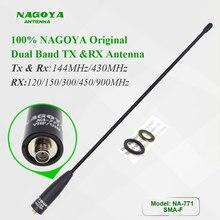 NAGOYA antena NA 771, accesorio de Radio de dos vías, UV 5R, UV 82, antena de doble banda