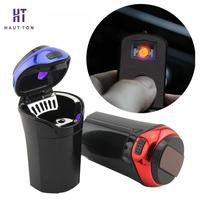 LED Lights Car Ashtray Portable Cup Holder Cigarette Holder Storage Cup Holder Ash Tray Household Merchandises
