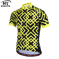 KIDITOKT Summer Quick Dry Mans Cycling Jersey Mountain MTB Bicycle Clothing Bike Wear Breathable Sportswear Ropa