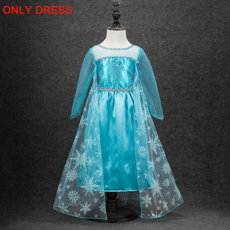 HTB1tXNSmSfD8KJjSszhq6zIJFXaR 2019 Elsa Dresses For Girls Princess Anna Elsa Costumes Party Cosplay Elza Vestidos Hair Accessory Set Children Girls Clothing