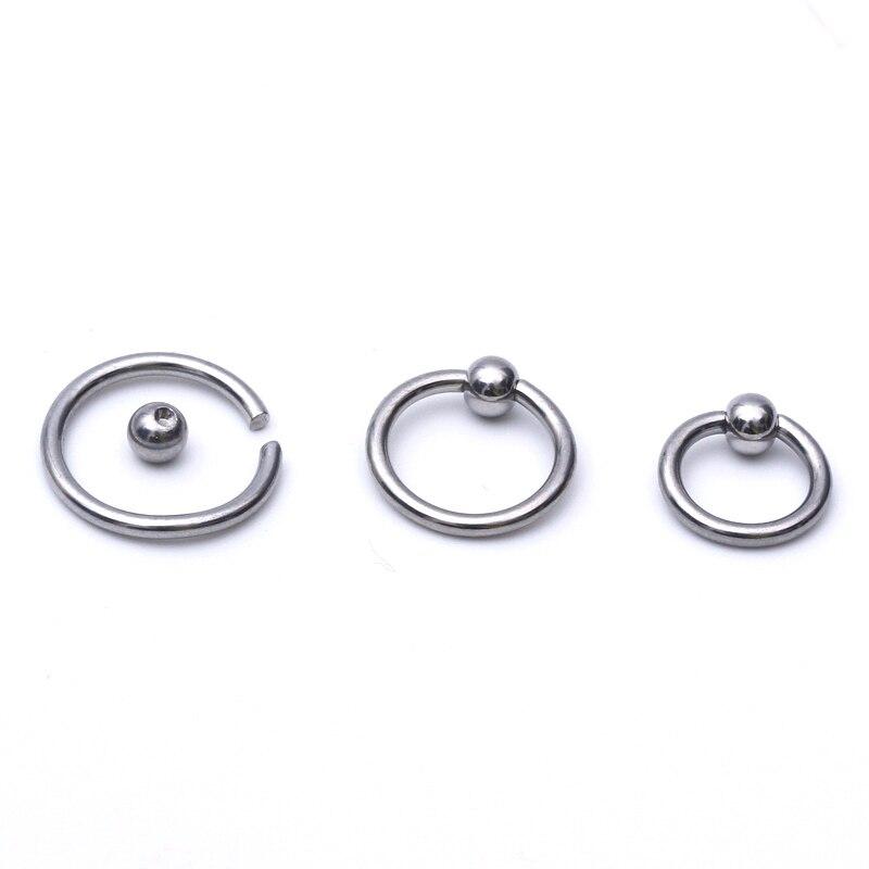 6-12mm Taille Titan Sourcils Bijou Piercing Pince Anneau Bcr 1,2mm avec Boule
