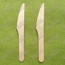 18335# одноразовые деревянные ножи 6 дюймов 16 см деревянная посуда для еды и стейков в западном стиле