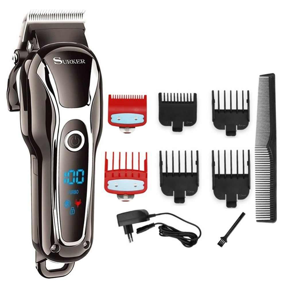 المهنية LCD مقص الشعر الكهربائية الشعر المتقلب للرجال قابلة للشحن مقص الشعر عدة قص الشعر آلة حلاقة الكهربائية