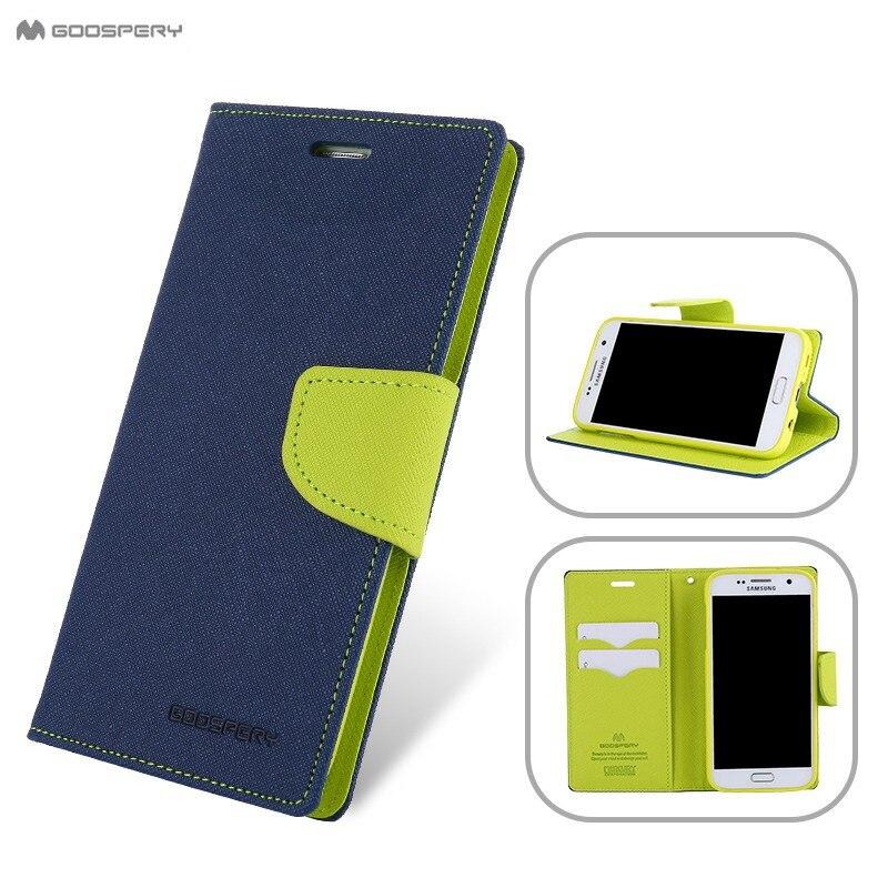 Original Goospery Flip Wallet Leather Case For Samsung Galaxy S9 S5 S6 S8 A3 A5 A7 J1 J3 J5 J7 2016 J2 Prime Pro A6 2018 Cover