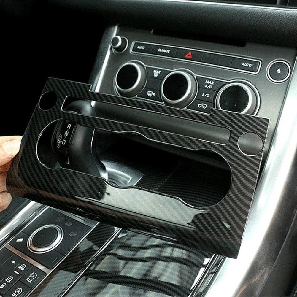 Nouveau accessoires de voiture en Fiber de carbone Console centrale panneau de Volume ca garniture de cadre pour Land Rover Range Rover Sport L494 2014-2017