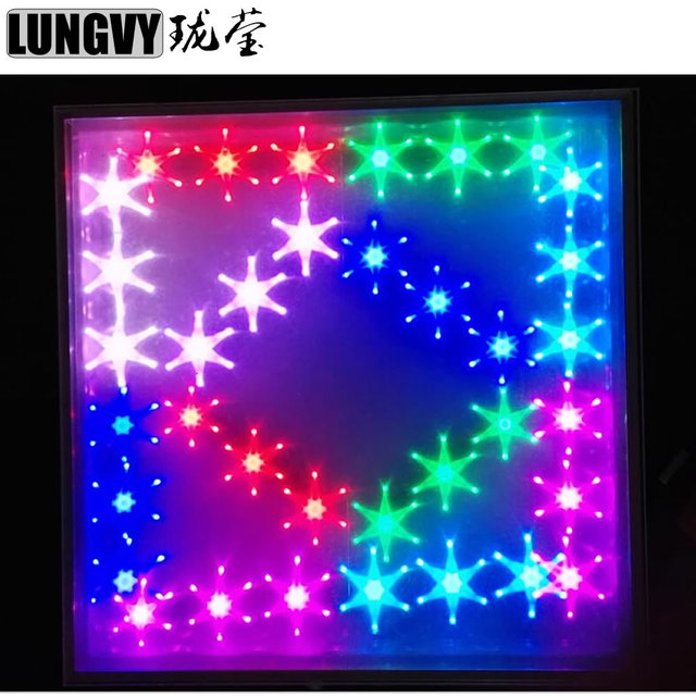 Free shipping 10pcs/lot RGB 3 IN 1 IP55 5050 SMD Wedding Party Tempered Glass Panel Colorful 3D Led Mirror Led Dance Floor