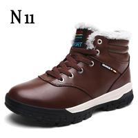 N11 New Fashion Men Winter Snow Boots Keep Warm Boots Plush Ankle Boot Snow Work Shoes