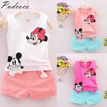 Pudcoco/Новинка года; комплект из 2 предметов; одежда для маленьких девочек; футболка+ штаны; комплект одежды