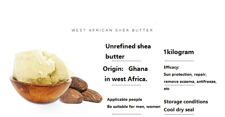 Essential Oil YAFUYAN 1000g Esential Oil ORGANIC PURE Shea Butter Unrefined Fresh Import From Africa Wholesale Free Shipping