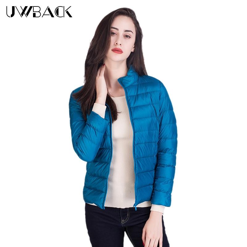 Uwback 90% White Duck   Down   Jacket Women Autumn Winter   Coat   17 Colors 2018 New Fashion Women Light   Down     Coat   Plus Size, EB281