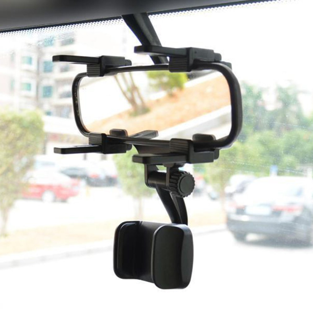 Universal Car Phone Holder Car Rearview Mirror Mount Mobile Phone Holder 360 Degrees Rotation For Smartphone Stand