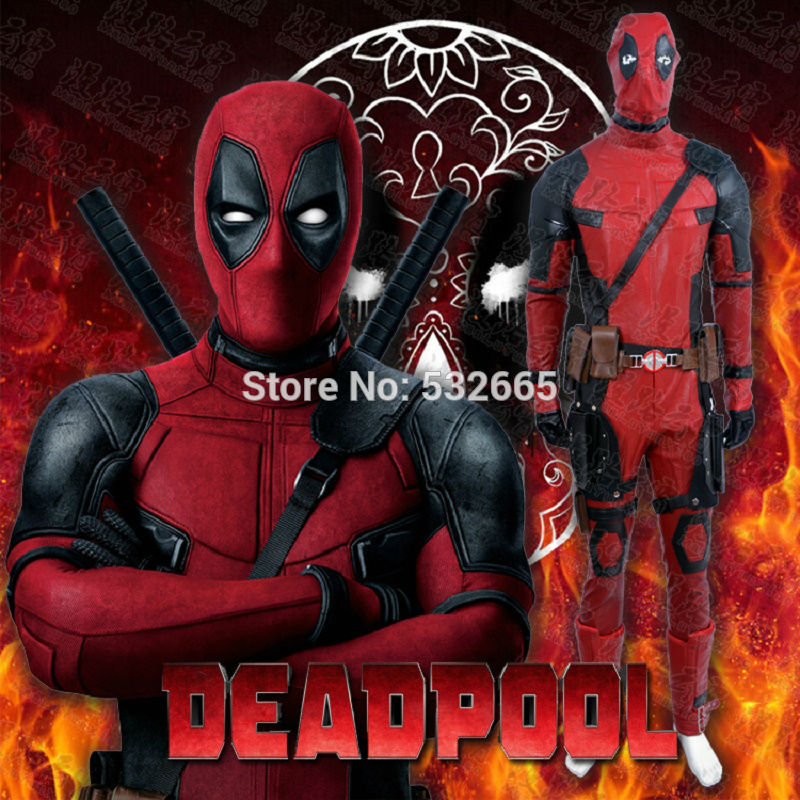 Cos X-MEN Deadpool Cosplay Costume Wade Winston Wilson Cos Full Set Deadpool Cos Suit Male Movie