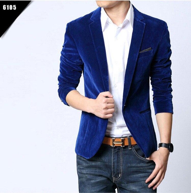 Men Blazer Slim Fit Suit Jacket Brand New Spring Autumn Outwear Coat