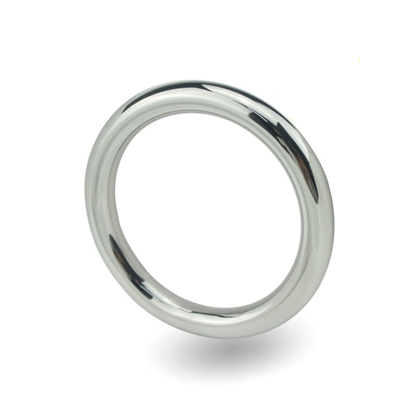 Buy Stainless Steel Erotic Sex Toy Male Metal Cock Ring Peni ring Chastity Delay Ring Optional 40/50 mm