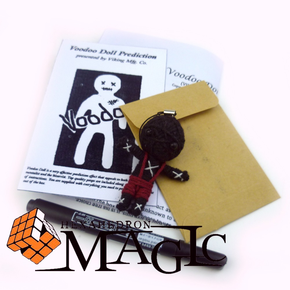 voodoo doll prediction mini size viking magic / close-up stage street floating magic tricks products toys hand puppet funny doll interactive clown magic tricks close up magic