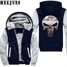 Bloody Punisher Skull Hoodies Mens nuevas chaquetas y chaquetas del invierno  cae hoodie Anime sudaderas con capucha gruesas de l. cf85ce50c5bf