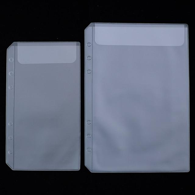 2018 Calendar PP board PVC storage bag receive card bag  A5 A6  spiral notebook loose leaf diary coil ring binder filler