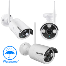 Techege 4CH WIFI CCTV System Wireless NVR Kit 2PCS 1080P HD IP Camera 2MP Outdoor Waterproof Home Security Surveillance System