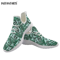 INSTANTARTS Women Flats Shoes Casual Footear Cash Dollar Print Brand Design Walking Sneakers Light Weight Breathable Hot Sneaker