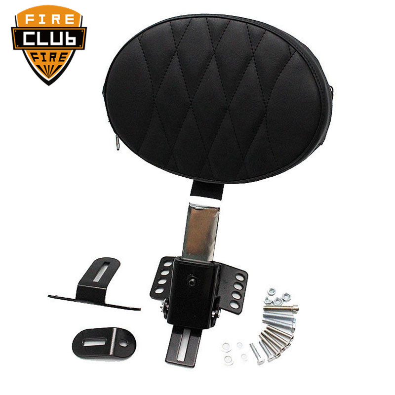 Motorcycle Adjustable Stand Plug In Driver Rider Seat Backrest Kit  For Harley Touring Electra Road Street Glide Road King 14-18