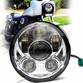 5 3/4'' Chrome led projection Daymaker headlight Kit 5.75'' inch harleys Headlight Head Lamp for Harley Sportster / Dyna