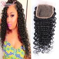 Brazilian Deep Wave Closure Piece Free Part / Middle Part Brazilian Lace Closure Deep Wave Brazilian Hair Weave Bundles Closure