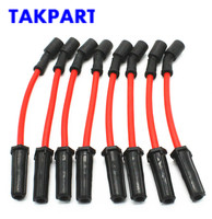TAKPART 8 PCS 10mm Spark Plug Ignition Wires Set for GMC Cadillac Chevrolet