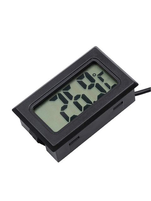 1PC Mini LCD Car Digital Thermometer Hygrometer Temperature Indoor Outdoor Temperature Sensor Humidity Meter Gauge Instruments