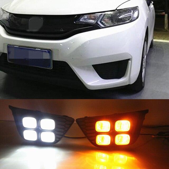 Car Flashing For Honda Fit 2017 2016 Drl Driving Daytime Running Light Fog Lamp