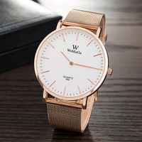 WoMaGe Brand 2017 New Ultrathin Women Watches Casual Rose Gold Quartz Wristwatches Women Relogio Feminino Montre