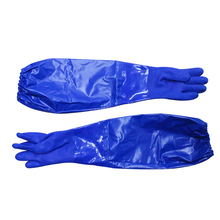 60 CM Long PVC Oil Resistant Gloves Household Safety Glove Slip Resistance Water Proof Work