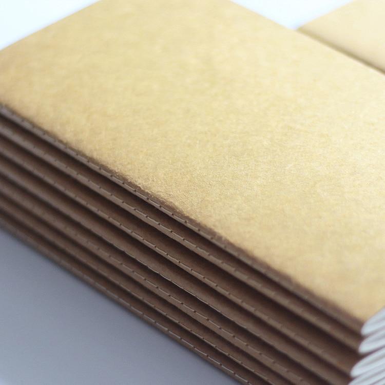 Standard / Pocket Kraft Paper Notebook Blank Anteckningsbok Dagbok - Block och anteckningsböcker - Foto 3