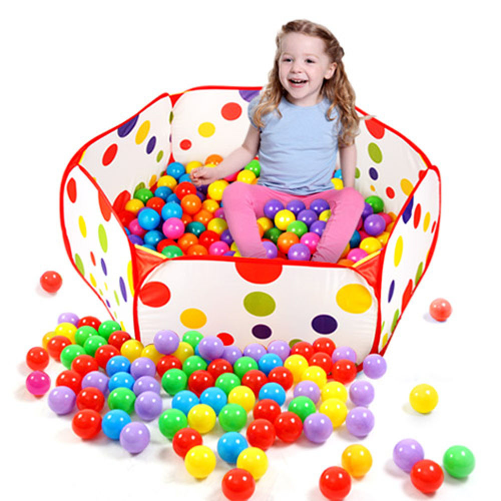 pool ball pools 0.9M Pop up Hexagon Polka Dot Children Ball Play Pool Tent Carry Tote Toy tent for kid play toys 2016.11