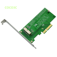 For 2013 2014 MacBook Air A1465 A1466 Pro A1502 A1398 SSD to PCI express 4X Desktop PCI-e SSD adapter + PCIe low profile Bracket