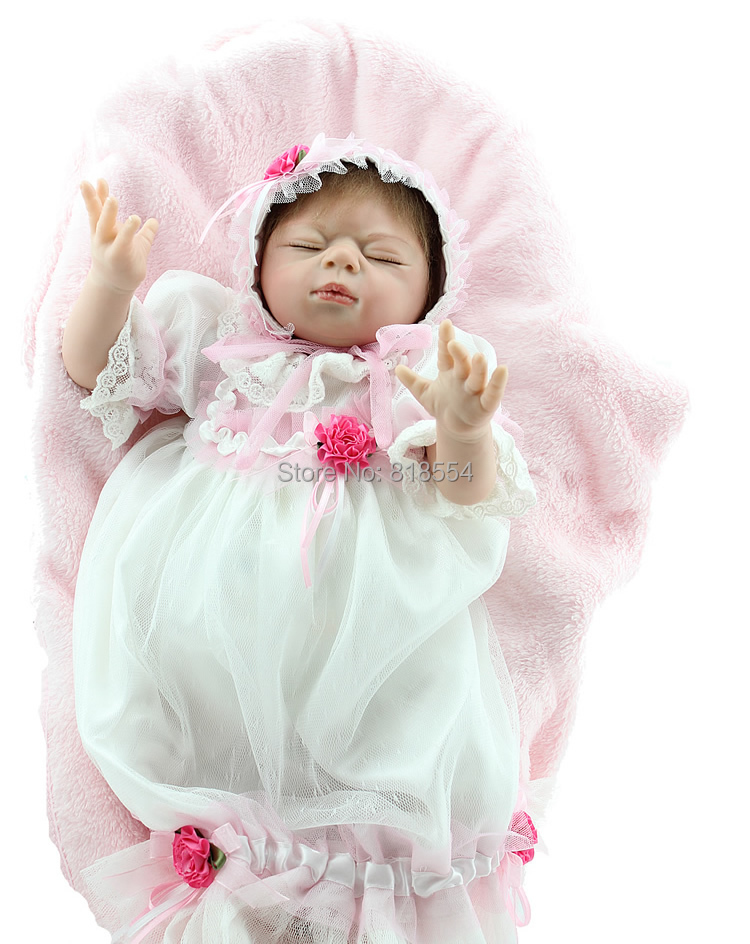 Free shipping silicone reborn baby dolls baby vinyl interactive baby reborn dolls for girls reborn baby dolls for sale