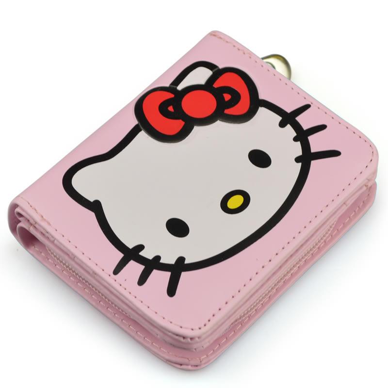 2016 New Arrive Cartoon wallets Women Short Purse Hello kitty Standard  Wallet PU Leather Zipper Purses Girls Boys Cute Wallets 86cf202264