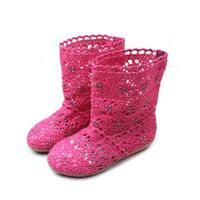 Baby Girls Boots Lace Princess Boots Spring Autumn Flat Heel Toddlers Kids Boots Ankle High Cut