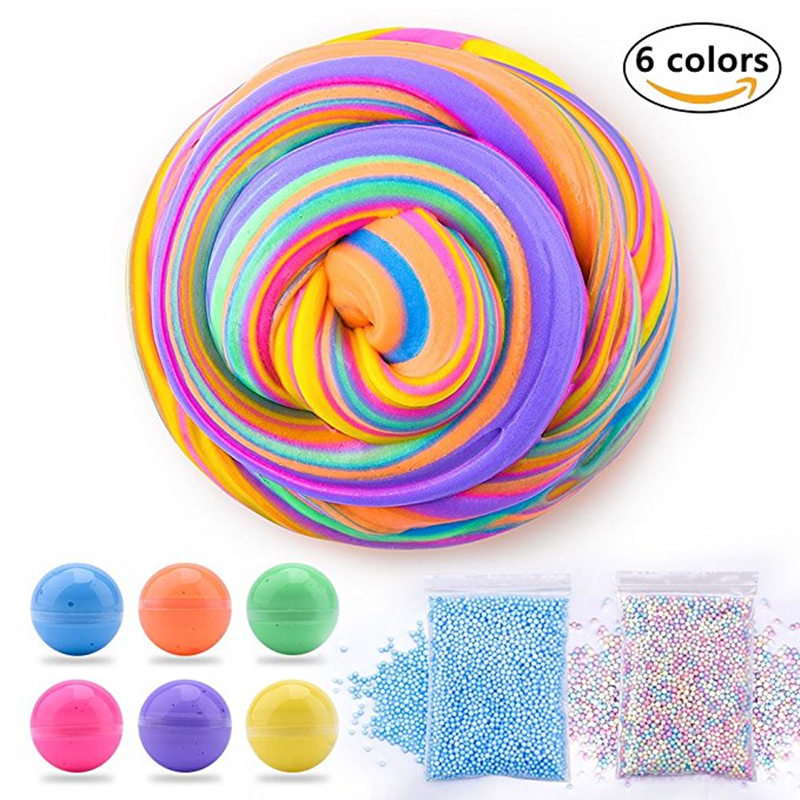 Dynamic Fluffy Slime 60ml plastic clay Light Clay colorful Modeling Polymer Clay Sand Fidget Plasticine Gum For Handmade Toy 60ml