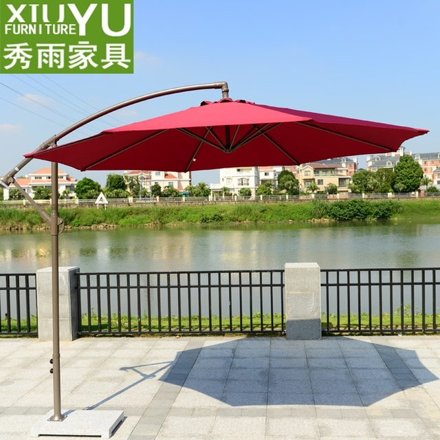 Show Rain Banana Umbrella Outdoor Umbrellas Patio Big Toys Furniture Garden  Terrace Balcony Beach