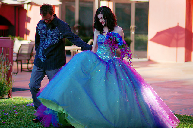 Free Fast Shipping Sweetheart Ball Gown Rainbow Princess Bridal Gown ...