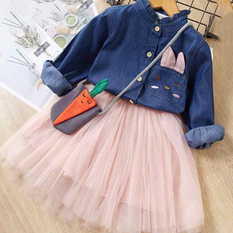 Melario девушки платье 2019 Новая брендовая одежда для девочек Европа и Америка Стиль детская одежда плед карманный дизайн Платье для маленьких девочек