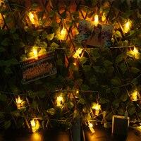Small Night Light Creative Hang Card Photo Wall Room Decoration Clip USB String Lights Flashing Lights