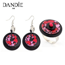 Dandie Fashionable Shell Earrings And Finger Ring Set, Ethnic Jewelry Set Popular New Arrival 2018